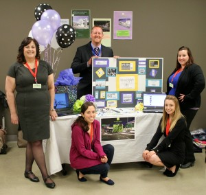 Image showing Team 2 and their display for ABT Web Comm Expo