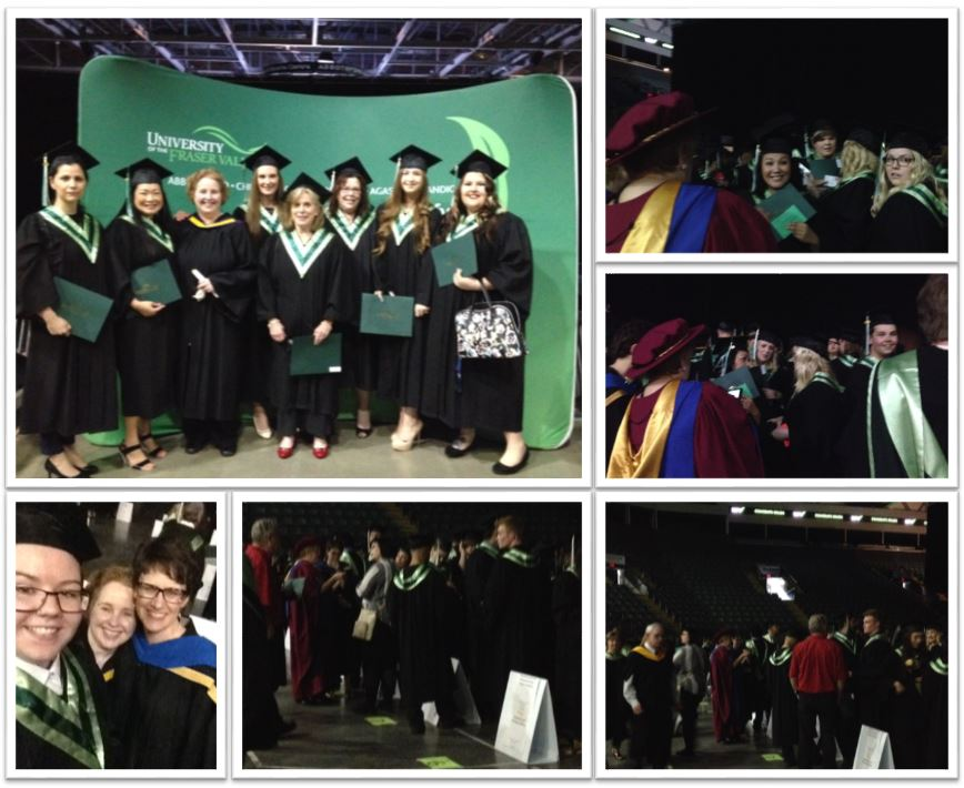 Montage of photos behind the scenes with ABT students before convocation began
