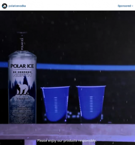 polar ice vodka ad image