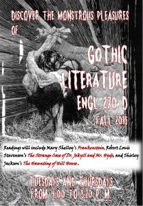 English blog Fall 2015 poster Gothic