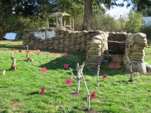 Great War trench reconstruction