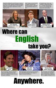 Where Can English Take You Anywhere PEOPLE