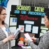 Nursing students discuss screen time issues at Nursing health fair