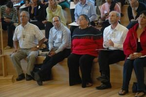 UFV hosts and caucus: Dr. Peter Geller, Shirley Hardman, Indigenous Affairs, Dr. Eric Davis
