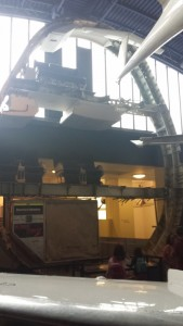 In the museum there was a cross-section of a boeing 747, it was really cool to see the layout.