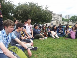 Here are some of the other participants as we wait for our entry to Buckingham Palace