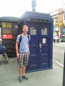 An old Police Box! Tardis for any Whovians out there