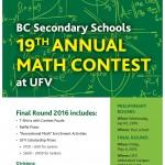Math Contest Poster 2016
