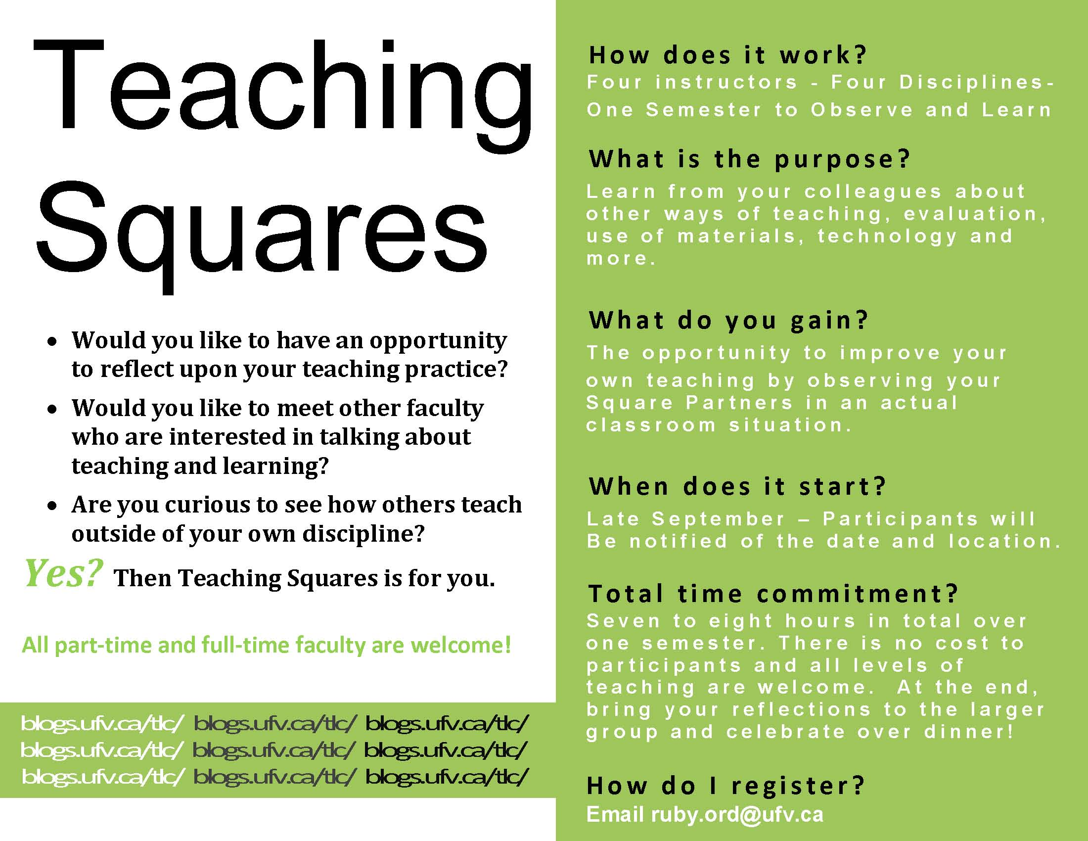 Teaching sqaures flyer