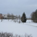 Snowy Abbotsford campus, January 18, 2012