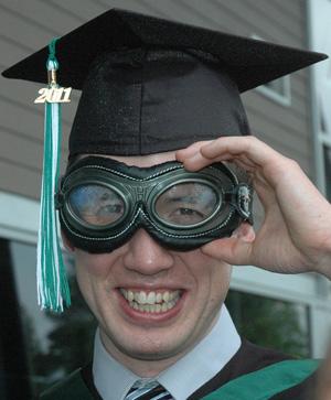 Goggle grad.