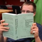 UFV Physics and Math major Timothy Richards brushes up on his quantum physics skills this summer.
