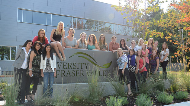Nursing students celebrate their graduation at the new Chilliwack campus at Canada Education Park