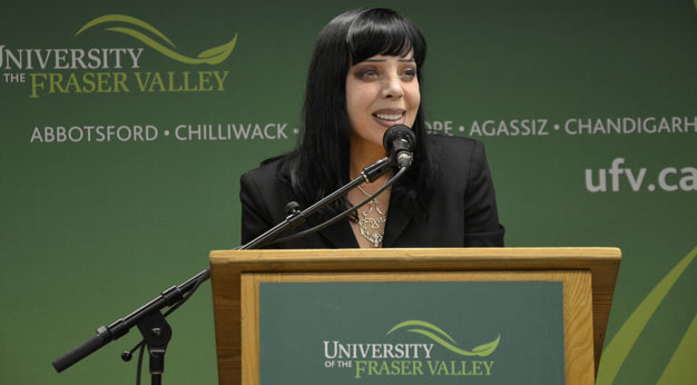 Bif Naked at UFV for blog