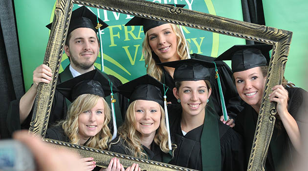 Grads in frame