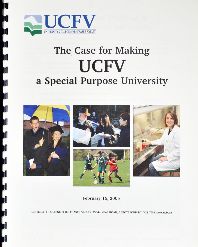 Case for Making UCFV Special Purpose U - Feb. 2005.jpg