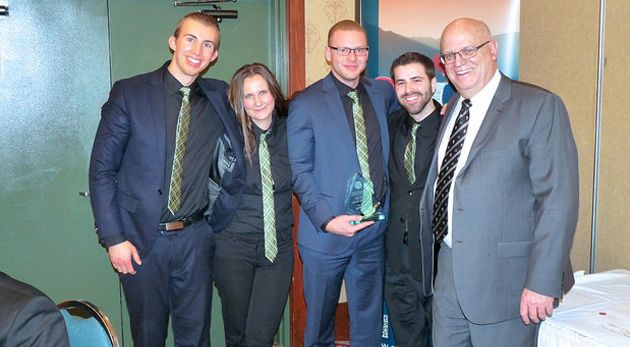 UFV's winning team