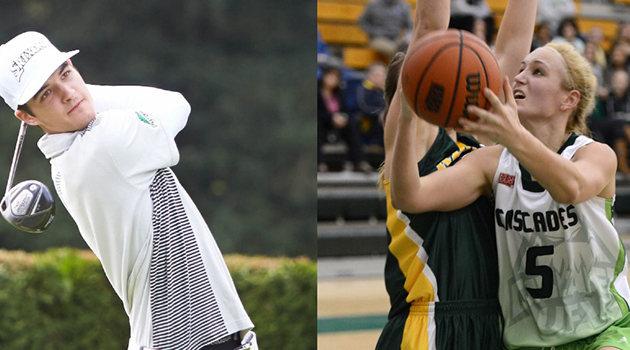 Aaron Pauls and Sarah Wierks are the University of the Fraser Valley's latest athletes of the year.