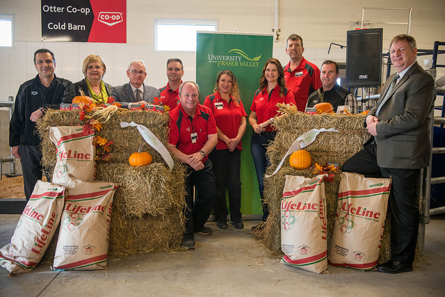 Otter Co-op representatives visited UFV on Oct 27 to open the Otter Co-op Cold Barn.