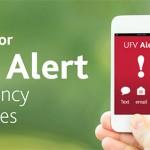 UFV Alert Test coming - register now.