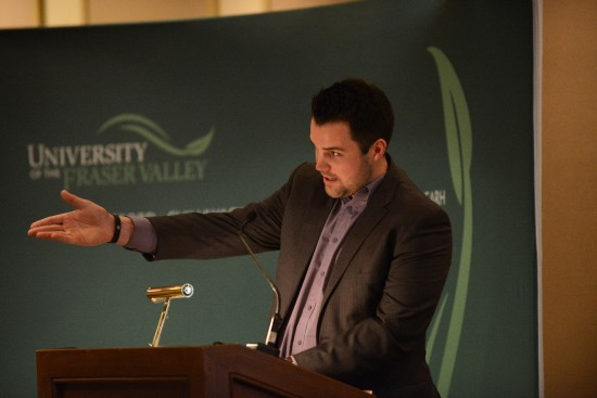 Scott Ramsay at UFV Student Research award ceremony 2015