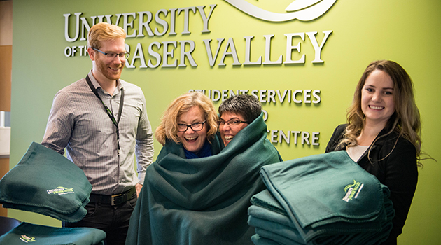 Comfy colleagues warming to UFV blanket initiative