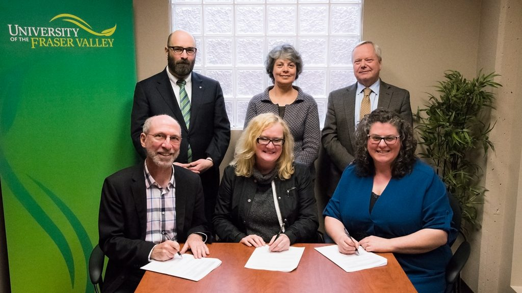 UFV and CPC sign transfer agreement