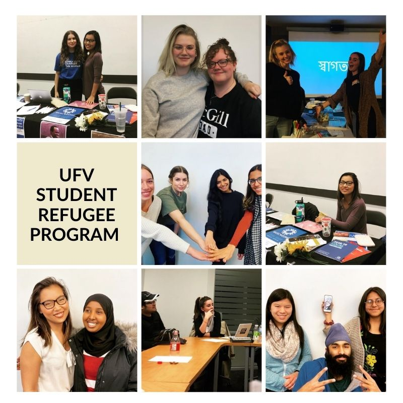 Photo collage of members of the UFV Student Refugee program