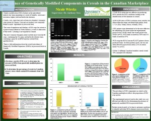 Know your discipline: Biology poster winner from 2015 UFV Student Research Day