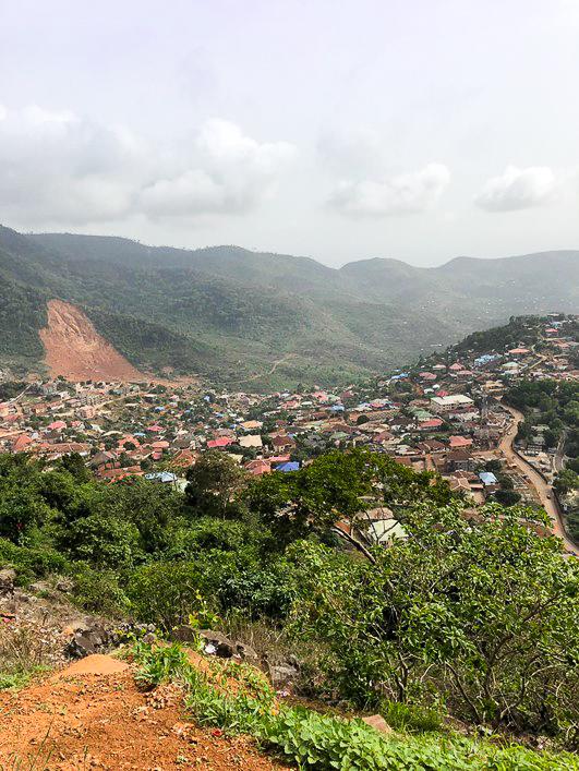 Mudslide site in Freetown Sierra Leone May 2019