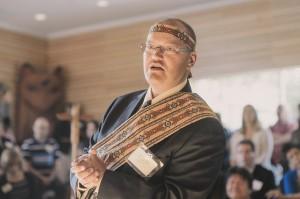 NVIT President Ken Tourand addressing Indigenizing the Academy Gathering UFV