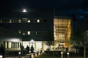 Chilliwack Education Park at night