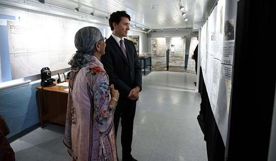 Prime Minister Justin Trudeau visits SASI exhibit at National Historic Site Gur Sikh Temple