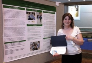 Shelley Canning with poster-UBC Nursing symposium 2014