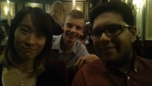 At the theatre! With Rain from China and Rohan from Spain.