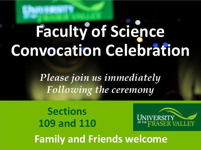 Invitation June 2, 2016 Faculty of Science