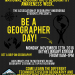"""Be a Geographer"" Day NOV 12 @ 11 AM G-Building"