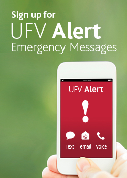 Sign up for UFV Alerts