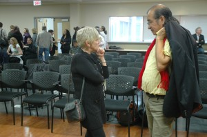 Tomson Highway during the meet and greet at UFV Abbotsford.
