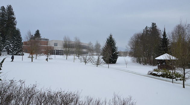 Snowy Abbotsford campus, January 18, 2012
