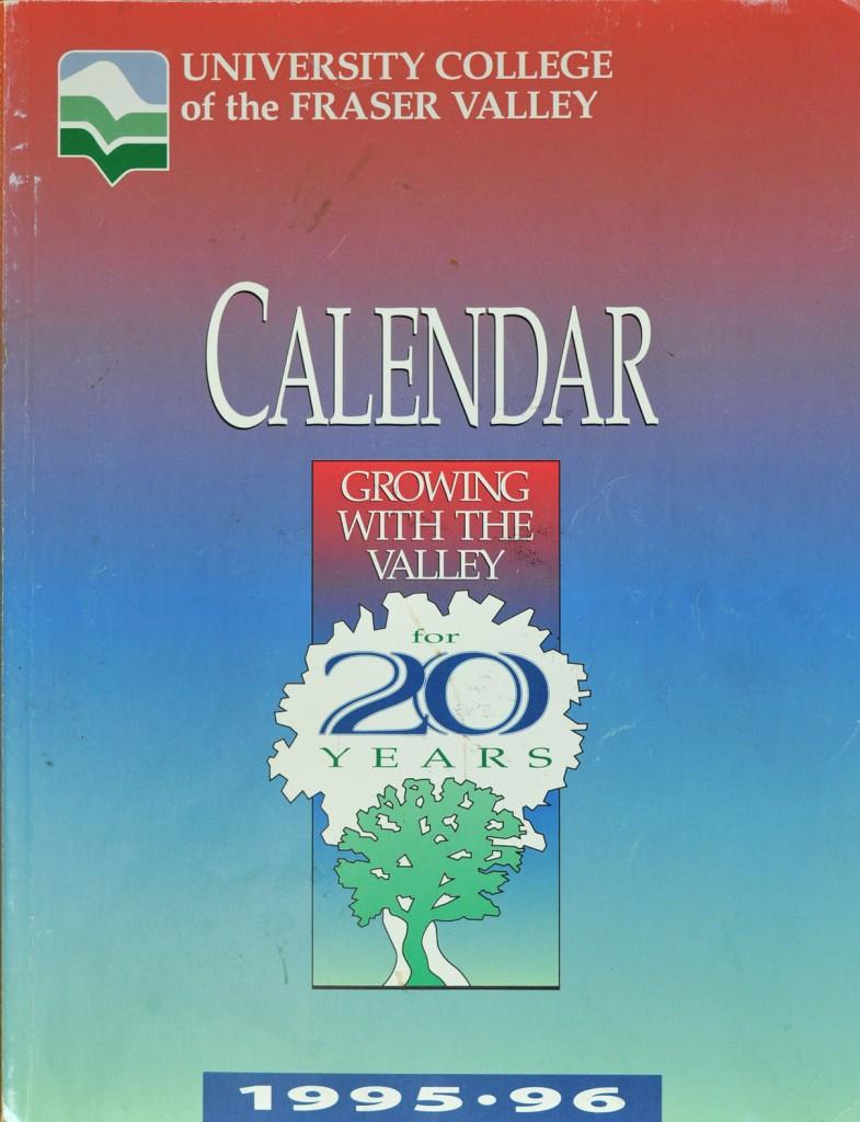 UCFV Calendar 95-96