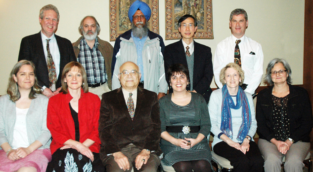20-year employees (2014). Back row, left to right: Bruce Kirkley, Mark Ryan Karmjit Sidhu, David Chu, Peter Mulhern, Carol Konkle, Liz Hughes, Cyrus Chaichian, Isabel Hay, Heather LeGood, Sylvie Murray