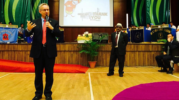 Canada's Minister of International Trade Ed Fast visits UFV's India campus in Chandigarh.