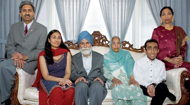 Dhami and family
