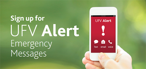 UFV Alert Test coming - register now.