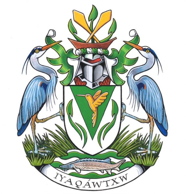 New UFV coat of arms features Stó:lô cultural icons and natural elements