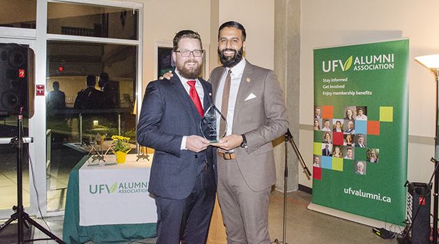 UFV Alumni Association torch passed to Nav Bains