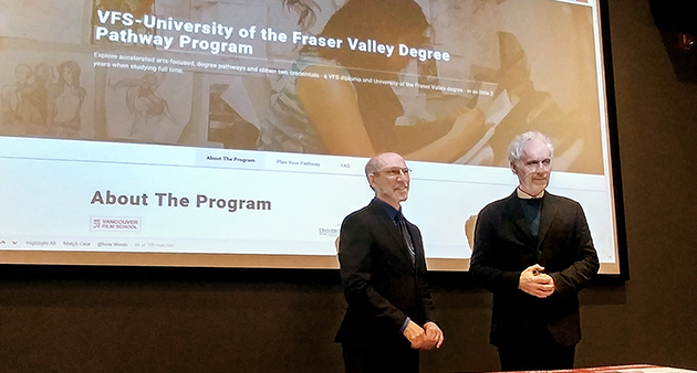 UFV partners with Vancouver Film School