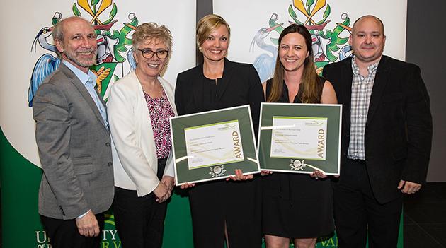 Sexualized Violence Prevention team receives 2018 UFV Teamwork Award