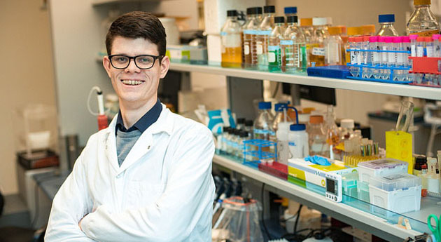 Young Distinguished Alumni winner Andrew Alexander fights scientific battle against antibiotic resistance